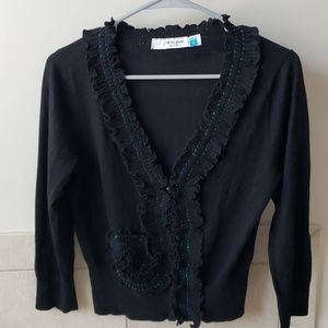 Anthropologie Sparrow Whirl and Wind Cardigan S